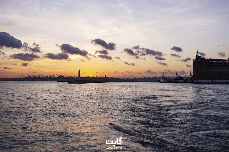 غروب افتاب در استانبول