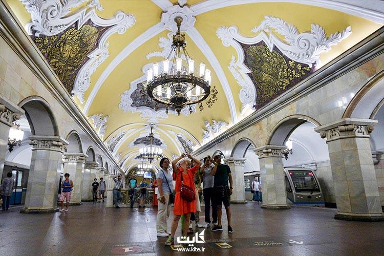 زیباترین ایستگاه های مترو مسکو که موزه است
