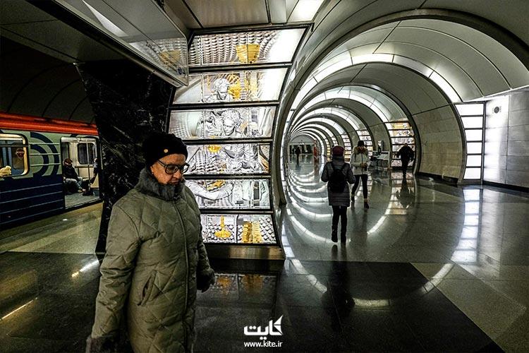 قیمت سفر با مترو در زیباترین ایستگاه های مترو مسکو