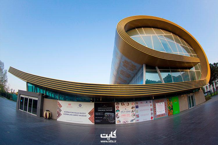 نمای روبروی موزه ملی فرش آذربایجان در باکو