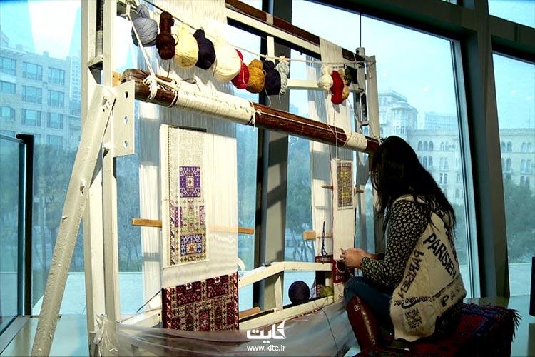 نمای برنامههای آموزشی موزه ملی فرش آذربایجان در باکو