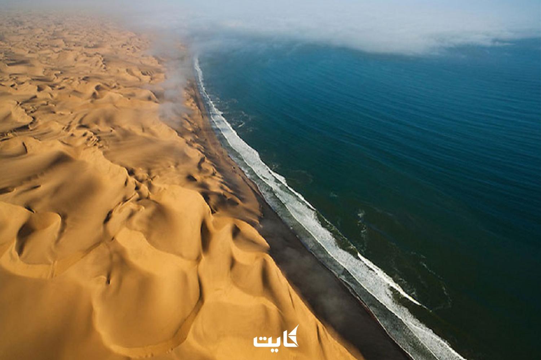 ساحل چابهار از نمای بالا