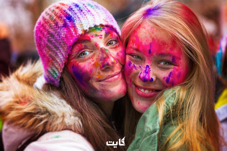 برگزاری جشن رنگها در اسپانیش فورک آمریکا