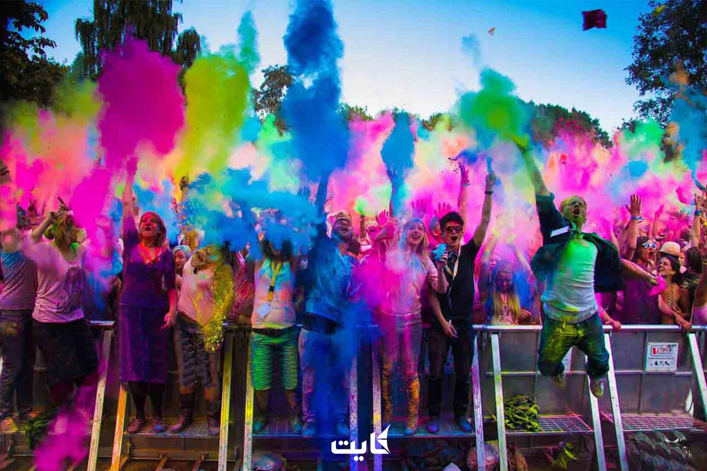 برگزاری جشن رنگها در پاتایا