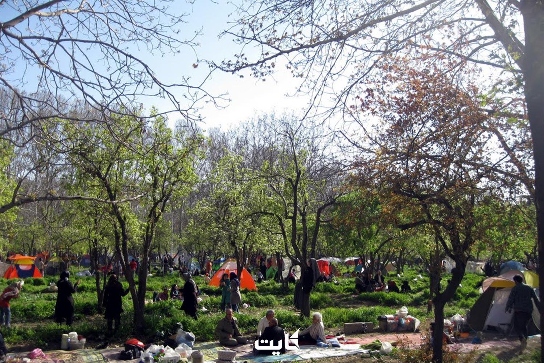 سیزده بدر در بوستان نهجالبلاغه تهران