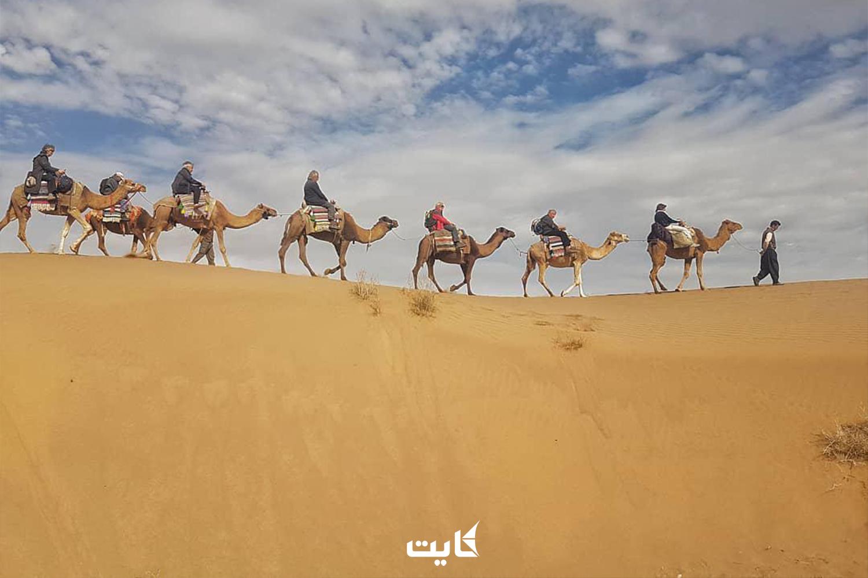 شتر سواری در کویر شهداد