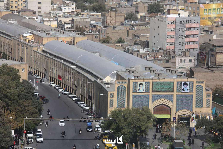 بازار رضا مشهد از نمای بالا