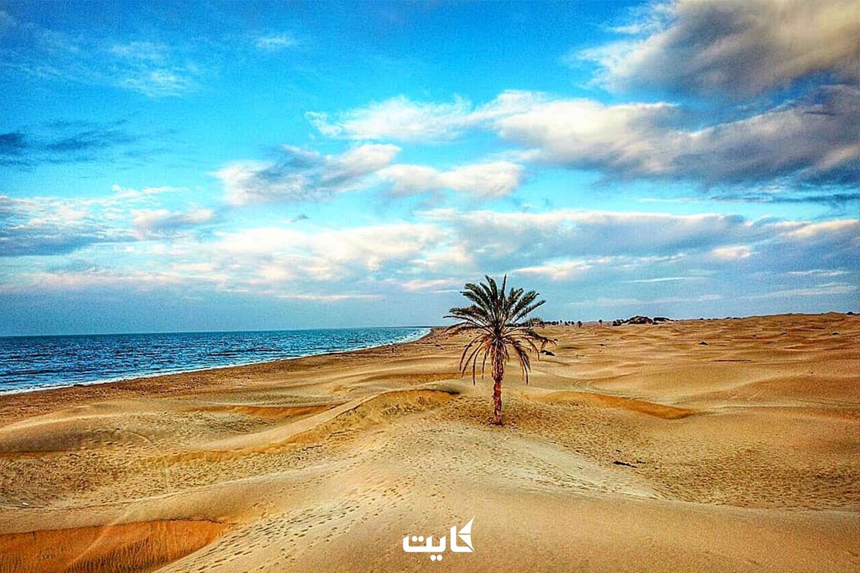 ساحل روستای درک
