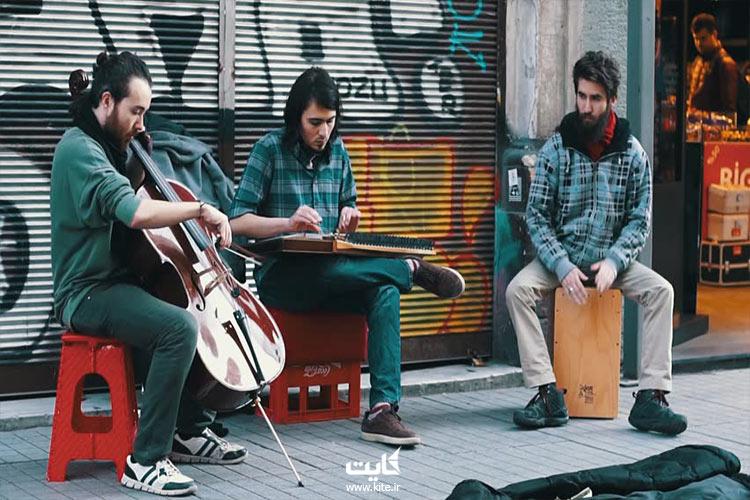 هنرگردی خیابانی میدان تقسیم استانبول