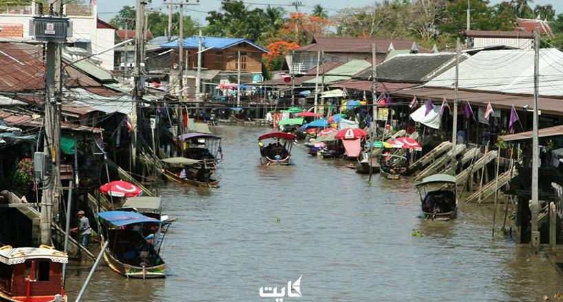 بازار شناور تایلند   معرفی 5 بازار شناور معروف تایلند